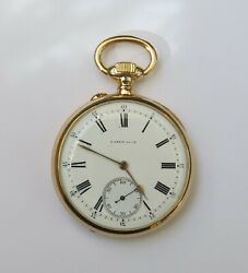 Antique French 18k Open Face Pocket Watch/ L. Leroy And Cie/early 1900s