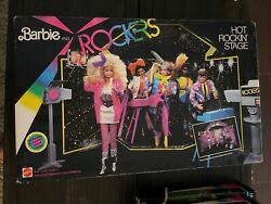 Barbie And The Rockers Complete Set Including Stage. 1985 1st Edition. Nib Nrfb