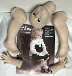 Shay Fired Porcelain Doll Parts -ready To Paint -pattern-instructions