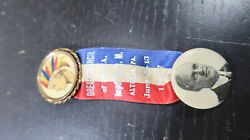1917 Great Council Pf Pa Improved Order Of Redmen Altoona Pa Ribbon Button