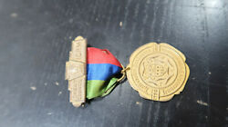 1923 Great Council Of Pa Improved Order Of The Redmen Lancaster Pa Medal Ribbon