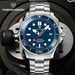 Pagani Design Blue Dial Japan Nh35 Automatic Watch 007 Mens Mechanical Watches T