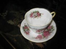 Vintage Royal Albert Blossom Time Series Hawthorne Bone China Cup And Saucer