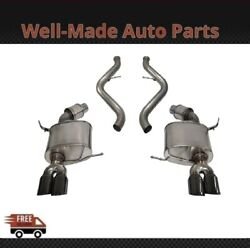 Corsa 304 Ss Cat-back Exhaust System Quad Rear For 08-12 Bmw 3-series 14568blk