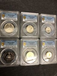 2016 Changeover Ram Mint Coin Set Pcgs Graded Gold Shield True View Slabs