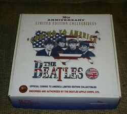 The Beatles Coming To America 30th Anniversary Box Set Hat T-shirt Pins Sticker