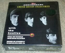 With The Beatles Album 30th Anniversary Box Set W Hat T-shirt Pins Sticker New