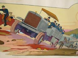 1914 Marguerite Montaut Gamywwi Panhard And Lavassor Chatillon 4x4 Truck Litho