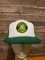 Dodge City Implement 🚜 John Deere Trucker Hat Green Mesh Back Adjustable Cap