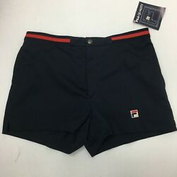 Vintage Fila 80#x27;s Men#x27;s Tennis Shorts Black Size 34 New With Tags