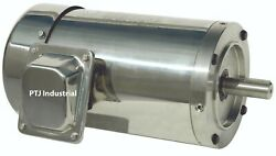 7.5 Hp Stainless Steel Electric Motor 213tc Washdown 3 Phase 1800 Rpm No Base