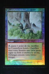 Magic The Gathering Mtg Wooded Foothills French Foil Onslaught Nm Near Mint