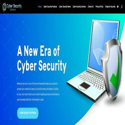 Cyber Security Wordpress Website With Woocommerce Shop.