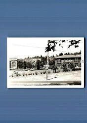 Real Photo Rppc L_0570 City Hall And Library Grounds In Chehalis