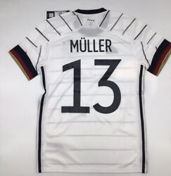 Adidas Germany Home Jersey 2020 13 Muller Euros White New With Tags S-m-l