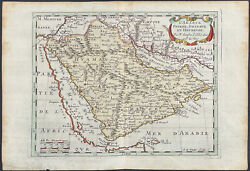 Sanson - Map Of The Middle East. 35, 1692 Luyts Original Hand-colored Engraving