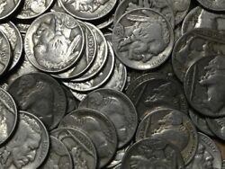 Half Roll Of Full Date Buffalo Nickels--20 Coins Total