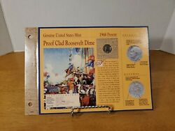 1968 S Proof Clad Roosevelt Dime American Historic Society Coin