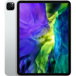 New Apple Ipad Pro 11and039and039 2nd Gen 2020 Silver 128gb Wifi+5g Factory Unlocked Gsm