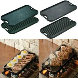 Lodge Pro Reversible Grill Griddle Pre-seasoned Cast Iron 20x10.5 Cooking Pan