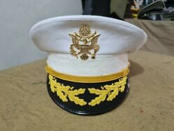 Replica Us Army Field Grade Officer Service Dress White Hat Cap All Sizes