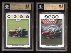 2008 Topps 34c Packers And 105 Jets Tractor Brett Favre Sp Bgs 9.5 Gem Lot