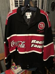Chase Authentic Dale Earnhardt Twill Coca-cola Family Racing Jacket L 3 New