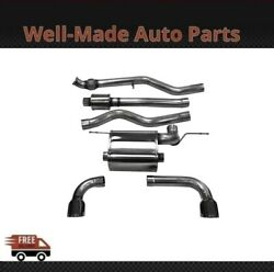 Corsa 304 Ss Cat-back Exhaust System Split Rear For 12-18 Bmw 3-series 14938blk