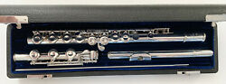 Older Us-made Selmer Omega Sterling Coin Silver Flute Outfit