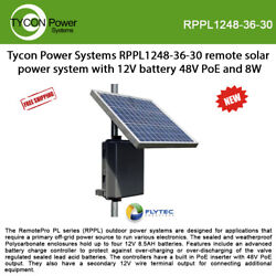 Tycon Rppl1248-36-30 Remote Solar Power System With 12v 34ah Battery And 48v Poe