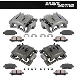 Front + Rear Brake Calipers + Ceramic Pads For 2007 2008 F250 2007 - 2010 F350