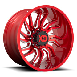 22 Inch Red Wheels Rims Lifted Ford F250 F350 Super Duty 8x170 Xd Series Xd858