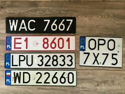 Poland License Plate - Collection 5 Plates
