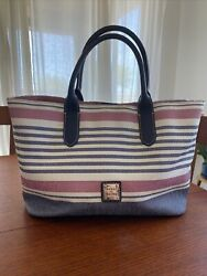 Dooney amp; Bourke Westerly Tote Red White amp; Blue Leather $69.00