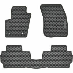 Floor Mats For Ford Fusion 2013-2020 Rubber Carpets Custom Fit All Weather Black