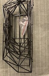 New Set Of 3 Wall Baskets Black Metal including Hardware. Not In Box
