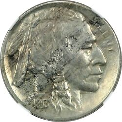 1913-s Type 2 Buffalo Nickel 5c Ngc Au Details Cleaned About Uncirculated