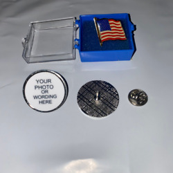 Create Your Own Personalized Tie Tack / Lapel Pin With Bonus