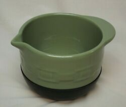 Longaberger Pottery Woven Traditions Small Sage Stay - Put Mixing Bowl 2012 - 14