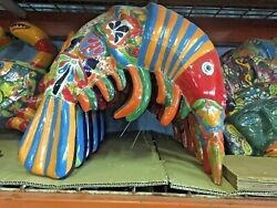 Talavera Mexican Pottery - Animals - Colorful Shrimp  Free Freight