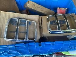 Nos Ford Mustang 1965-1966 Chrome Tail Light Bezels Pair