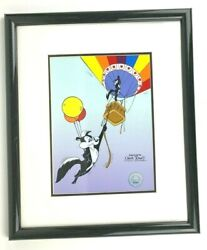 Chuck Jones Pepe Le Pew And Penelope Ascent Of Love Authentic Sericel 00364