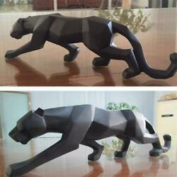 Modern Abstract Geometric Style Themed Panther Figurine Statue Home Decoration
