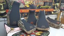 Yamaha Grizzly 660 Realtree Seat Cover Black Gripper And Camo Blk/stitch
