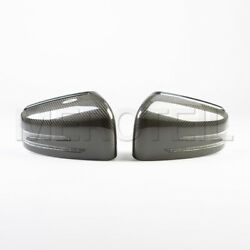 Genuine Mercedes Carbon Mirror Cover Set For Mercedes W204 C63 Amg W212 C218