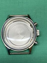 Vintage Gallet Chronograph Watch Stainless Case Valjoux 72 For Parts