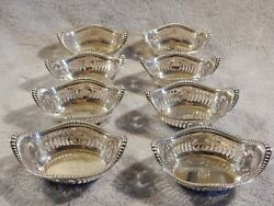 8 Sterling Silver Nut Bowls Made By Gorham A4775 With Monogram