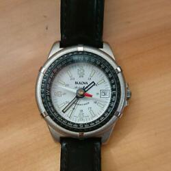 Vintage Bulova Oceantimer 11812 Automatic 30m White Dial Mens Watch Works