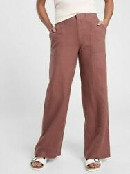 Athleta Cabo Retreat Linen Pant 8 T 8t Tall Nwt Hearth Rose Travel 657597