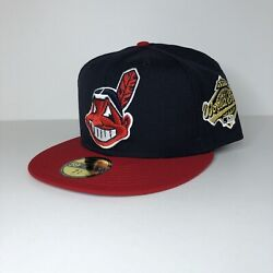 Cleveland Indians Chief Wahoo 1995 World Series Hat Club New Era Fitted Sz 7 5/8